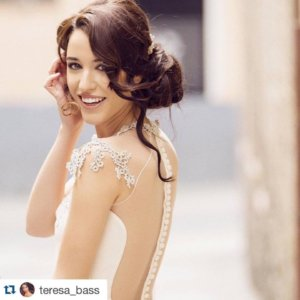Teresa Bass Tocado de novia