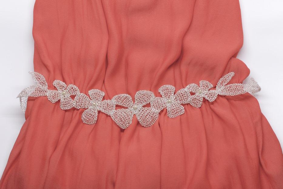 Cinturón de plata de novia o invitada