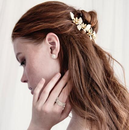 d2ab8eb1d15f Tocados de novia  Más de 60 joyas hechas con hilos de plata a mano ...